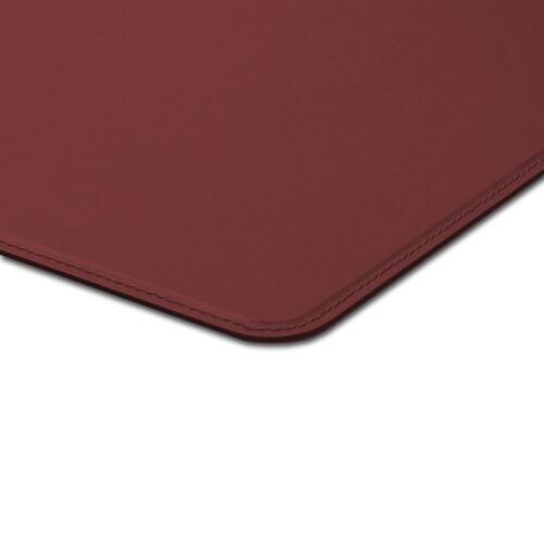 Schreibunterlage Leder Bordeaux Rot Abgerundeten Kanten und Gleitschutz cm 90x60