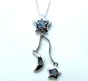 Cadena-Colgante-Plata-Esterlina-925-16-Cubic-Zirconia-Estrella-de-cristal-de-la-CZ