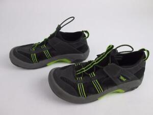 2777287733b5 TEVA BOYS WALKING HIKING WATER SANDALS SHOES BLACK GREEN 1000327 SZ ...