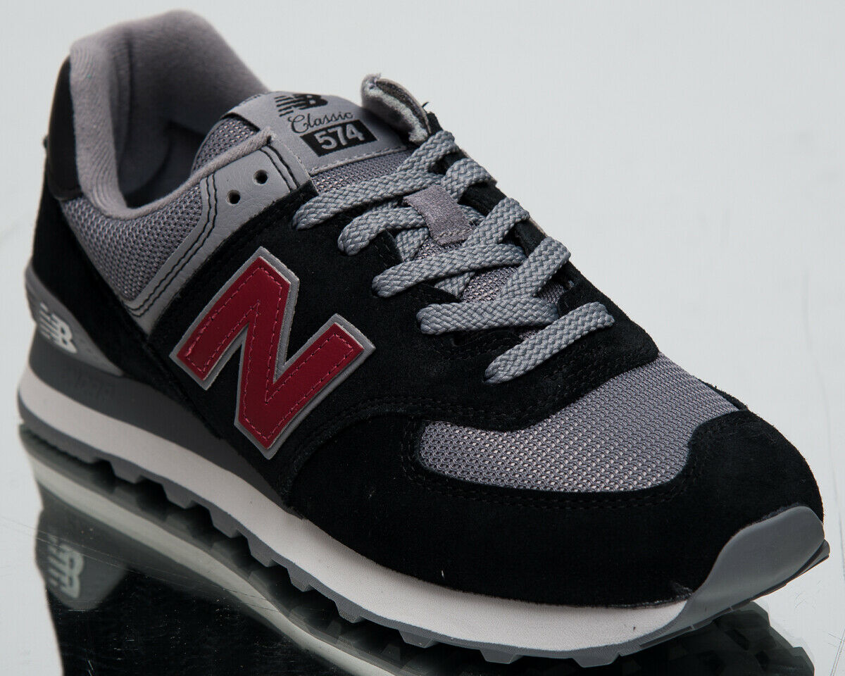 New Balance 574 Men's New Black NB Scarlet Casual Lifestyle Sneakers ML574-ESU