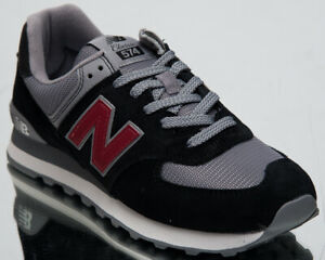 best cheap 9d06f 0704e New Balance 574 Men's New Black NB Scarlet Casual Lifestyle ...