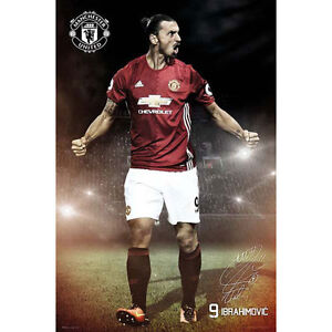 Manchester-United-Ibrahimovic-2016-17-POSTER-61x91cm-NEW-Premier-League-Soccer