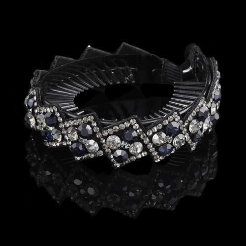 Women Bun Net Hair Clips Accessories Rhinestone Hairpin Fashion Bobby Pin Claws