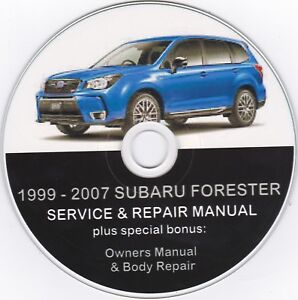 1999 2007 subaru forester original service repair manual ebay rh ebay com 1999 subaru forester owner's manual 2003 Forester