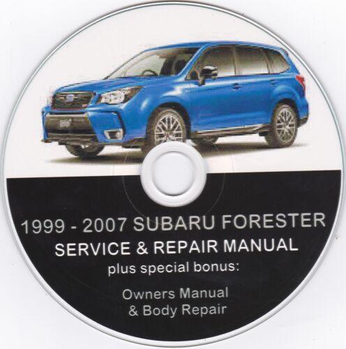 1999-2007 SUBARU FORESTER ORIGINAL SERVICE /& REPAIR MANUAL