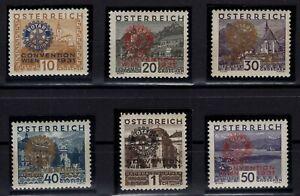 P126382-AUSTRIA-ROTARY-MI-518-523-COMPLETE-MINT-MNH-CERTIF-CV-715