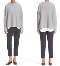 Vince Womens Funnel neck Cashmere Sweater Desert Sage XS
