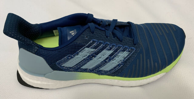 ADidas Solar Boost 19 Mens Running Shoe Sneaker  Blue Yellow White Size 9