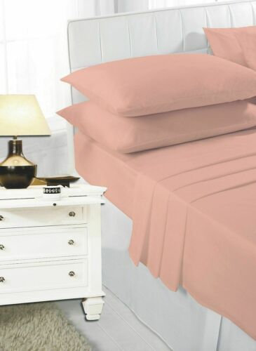 Full Fitted Sheet Bed Sheets 100/% Poly Cotton Single Double Super King Size New