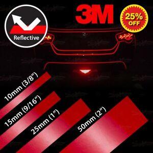 3M Band Reflektierendes Selbstklebend Reflektorfolie Reflektorband Klebeband ROT