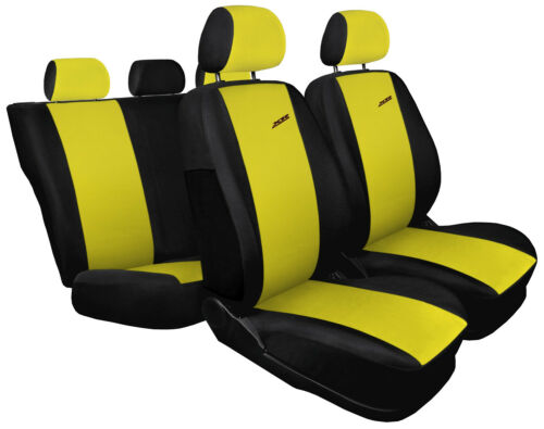 Car Seat Covers Adatta Skoda Fabia-XR NERO//GIALLO SET COMPLETO SPORT STILE