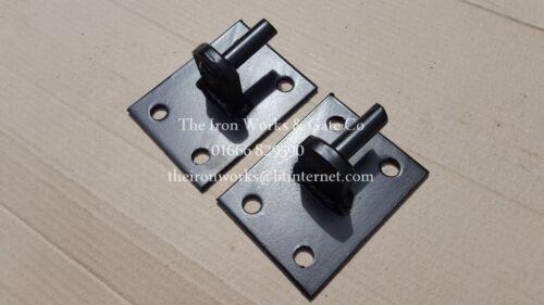 4X HINGES//HANGERS IRON 16mm SPIGOTS PINS GATE DRIVEWAY DOUBLE SINGLE GATES