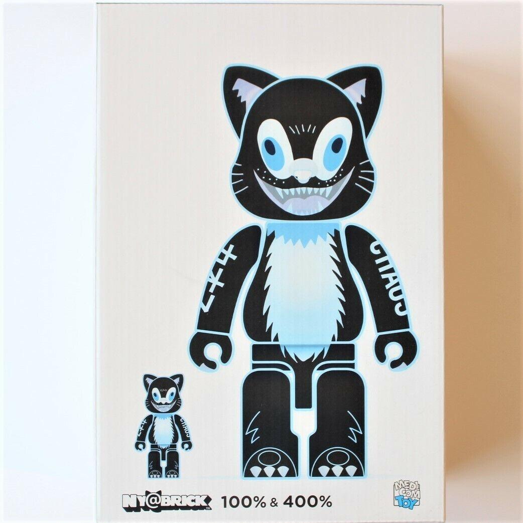 Medicom Toy Ny @ Stein Kidill Katze 100% & 400% Figur Spielzeug 2pcs Set von