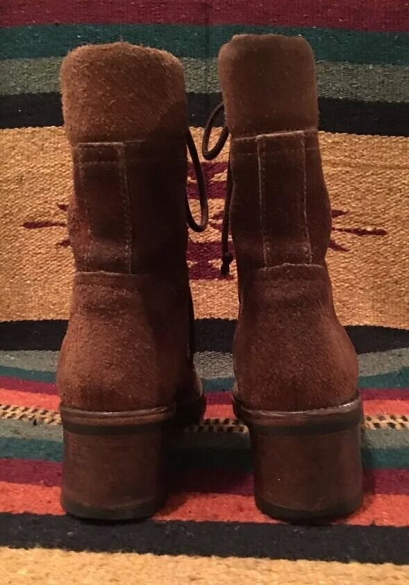 RALPH LAUREN Hiking Collection Rare Suede  Leder Lace-Up Military Hiking LAUREN Boot 6B ITALY 69ec0e