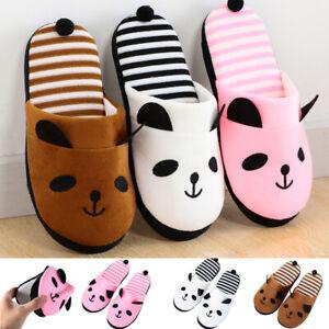 Cartoon-Panda-Slippers-Soft-Plush-Floor-Slippers-Indoor-Slippers-Non-slip-Shoes