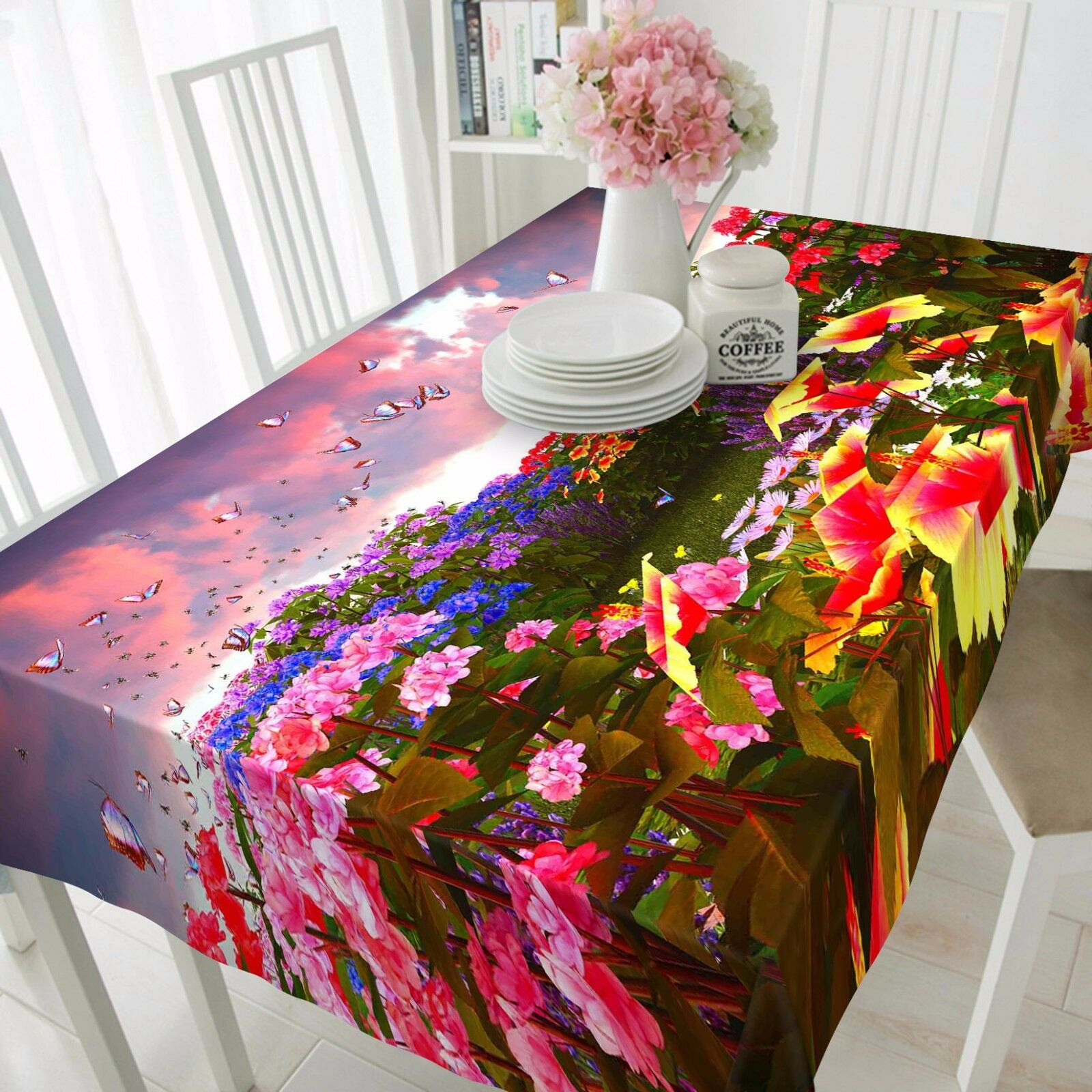 3D Flower 8929 Tablecloth Table Cover Cloth Birthday Party Event AJ WALLPAPER AU