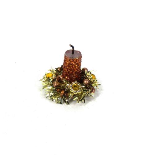 Rustic Autumn WMH Miniature Dollhouse Fall Thanksgiving Candle Centerpiece