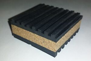 12 pack Anti Vibration isolation pad rubber/cork 2x2x7/8 HVAC Machinery  MP2C