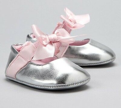 0-6m Size 1//2 Cream Baby Girl Darling Patent Ballerina Shoes