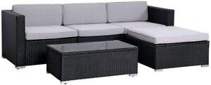 Evre rattan set di mobili da giardino esterno California divano impostato con tavolino