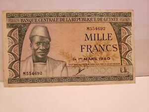 Guinee-One-Thousand-1000-France-1960-VF
