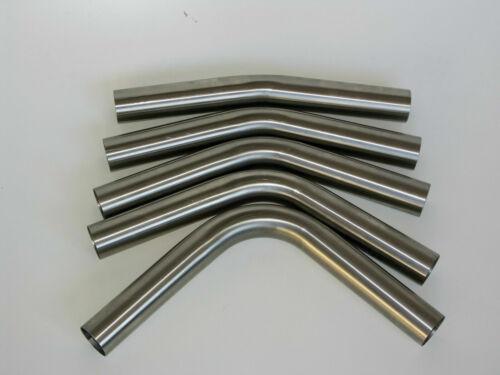 Edelstahl Rohrbogen lang 70mm Rohr 15° 30° 45° 60° 90° ungeweitet Auspuff V2A