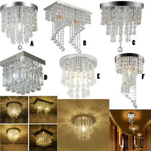 Modern-Chandelier-Crystal-Ball-Fixture-Pendant-Ceiling-Lamp-Hallway-Light-USA