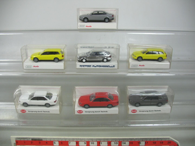 AP372-0, 5 x Rietze H0 Car Audi  A6 2.8 Quattro + A4 Avant 1.9 Tdi etc. , Nip