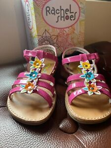 Girls-Pink-Sandals-Size-12-Comfortable-With-Flowers-Summer