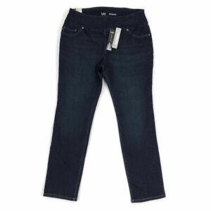 Lee-Women-039-s-Jeans-Slimming-Fit-Slim-Straight-Blue-Plus-Sizes