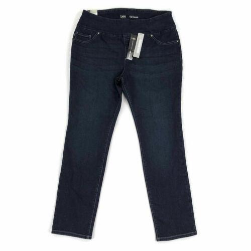 Lee Women/'s Jeans Slimming Fit Slim Straight Blue Plus Sizes