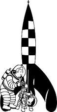 Sticker Tintin Objectif Lune - 57x110 cm