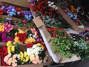 20 Artificial Flower Greenery Bunches Joblot Wholesale Christmas ...