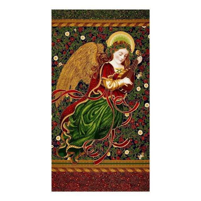 "Robert Kaufman Holiday Flourish 11 APTM 17334 223 Panel 24/"" WOF Cotton Fabric"