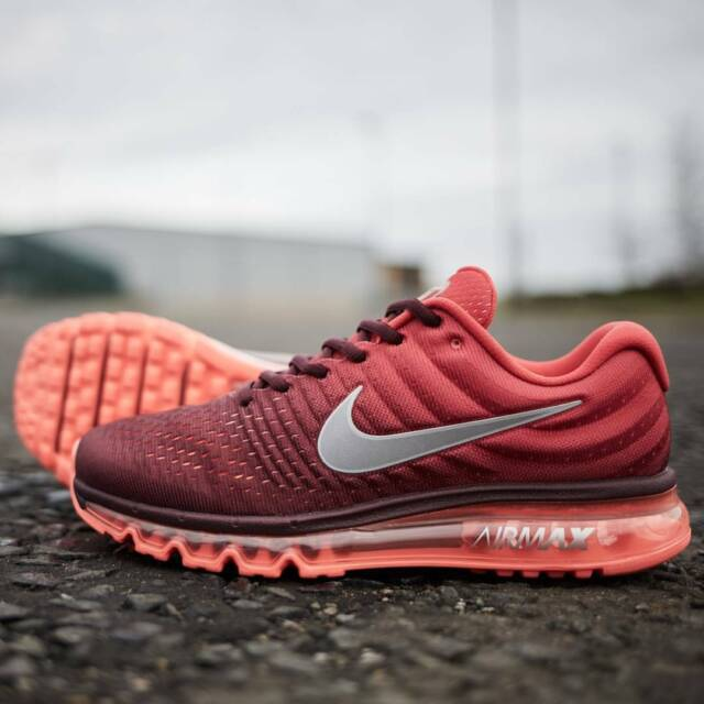 on sale 6ec6d 46276 NEW Nike Air Max 2017 Men's Running Shoes Night Maroon Gym Red 849559-601