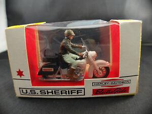 Britains N° 9692 Us Sheriff Motocyclette Harley 1/32 Neuf Boite/boxed