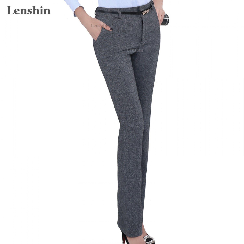 Formal Pants For Women Office Lady Wear Work Straight Trousers Female Business