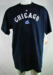 Chicago White Sox MLB Majestic Men's Navy Blue Short Sleeve Logo Shirt