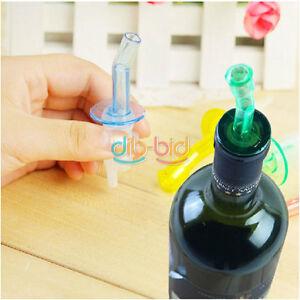 4X Bottle Pourer Pour Spout Stopper Dispenser Liquor Flow Olive Wine Oil Set SS