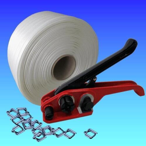 Clamp STRAPPING KIT Textile Band umreifungsset 19 mm Strapping Tape Tensioner