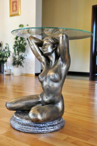 Clubtisch Erotiktisch Frauen Akt Glastisch Beistelltisch Nachttisch Blumentisch