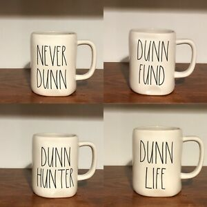 Rae-Dunn-Collection-By-Magenta-NEVER-DUNN-DUNN-FUND-DUNN-HUNTER-DUNN-LIFE-Mug