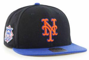 NEW-YORK-METS-MLB-FLAT-BILL-SURE-SHOT-039-47-2-TONE-CAPTAIN-SNAPBACK-CAP-HAT-NEW