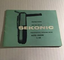 Vintage Sekonic Photoelectric Exposure Meter Auto-Leader L-38 Instruction Manual