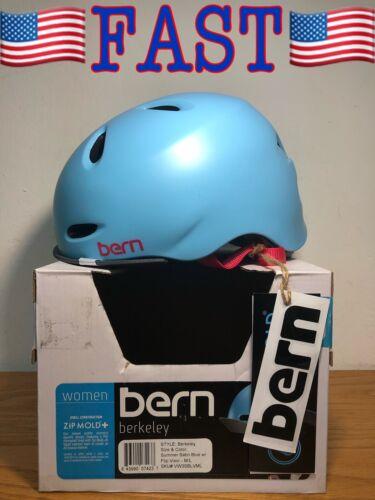 NEW Bern Berkeley Ladies Bike Cycle Helmet Flip Visor Satin Blue M//L 55.5-59cm