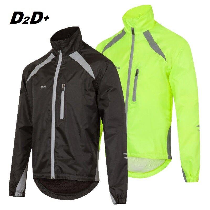 D2D Men's Plus Dimensione hydroviz antivento e impermeabile Ciclismo GiaccaHi Viz