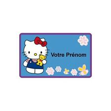 Autocollant Sticker personnalisé Hello Kitty prénom chambre logo 2