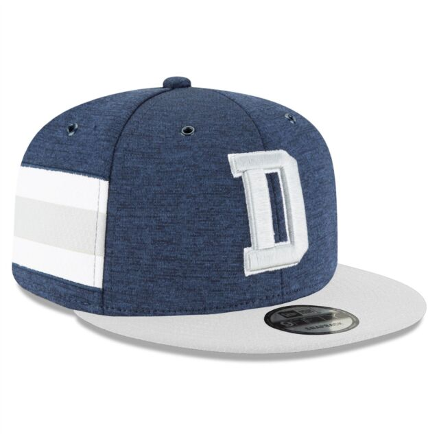 16050a85410 Dallas Cowboys Hat New Era Official Sideline Home NFL 2018 9FIFTY Snapback  Blue