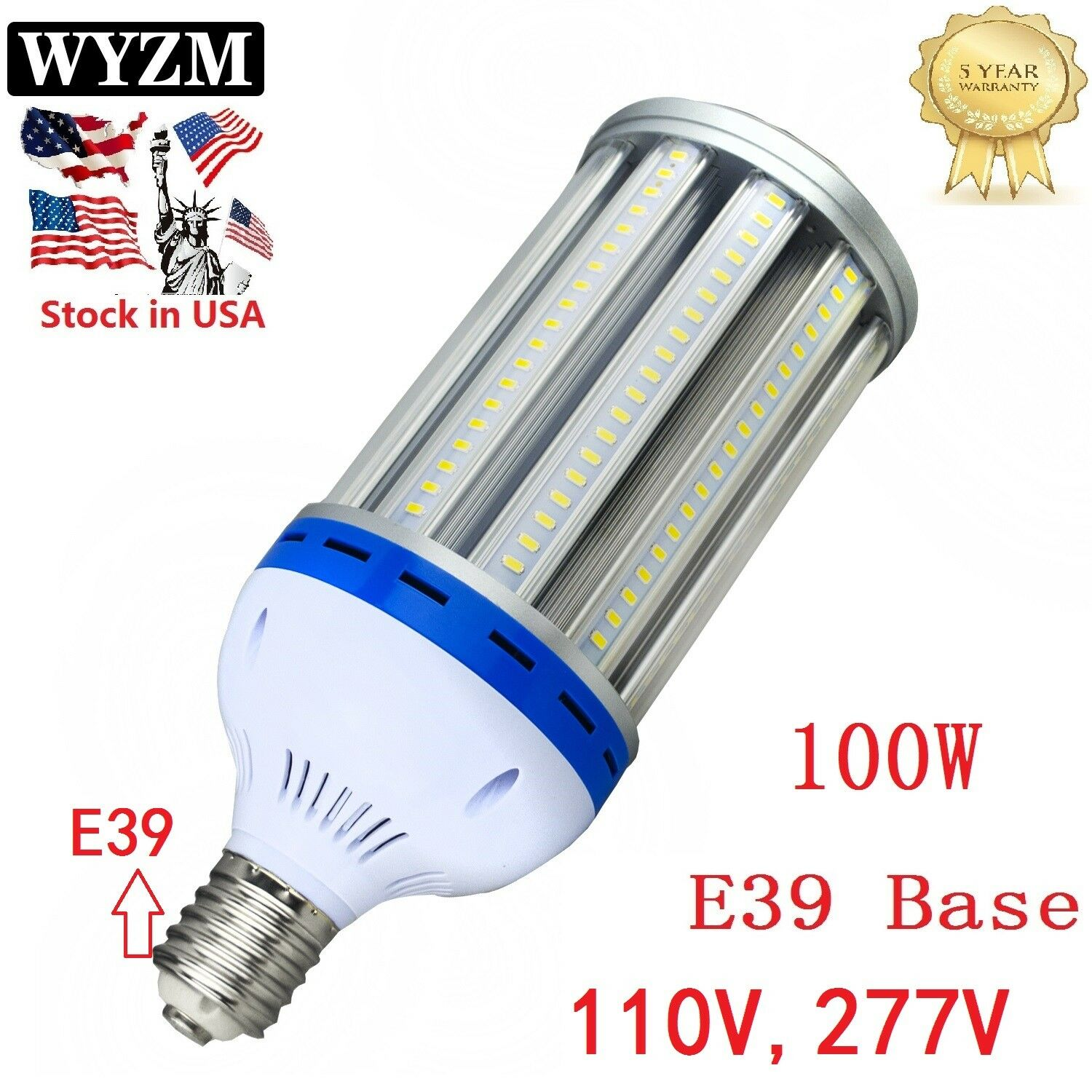 LED Corn Light Bulb E39 80W 100W 120W for Metal Halide HID HPS Replacement 5500K