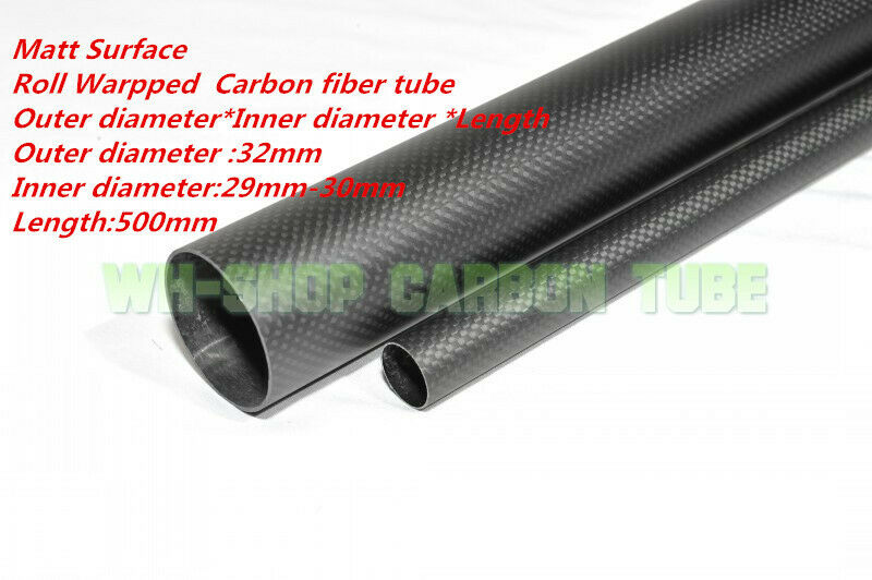 3K autobon Fiber Tubes OD 32mm  ID 29mm  30mm  Roll Wrapped X 500MM  Ultimo 2018